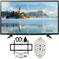 LG 49 1080p Full HD LED TV 2017 Model (49LJ5100) with Deco Mount Slim Flat Wall Mount Ultimate Bundle Kit for 32-60 inch TVs & Stanley Transformer Tap USB w/ 6-Outlet Wall Adapter and 2 Ports