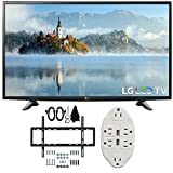 LG 49'' 1080p Full HD LED TV 2017 Model (49LJ5100) with Deco Mount Slim Flat Wall Mount Ultimate Bundle Kit for 32-60 inch TVs & Stanley Transformer Tap USB w/ 6-Outlet Wall Adapter and 2 Ports