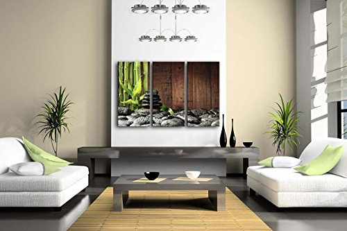 3-Panel-Wall-Art-Green-Spa-Concept-Bamboo-Grove-And-Black-Zen-Stones-On-The-Old-Wooden-Background-Painting-Pictures-Print-On-Canvas-Botanical-The-Picture-For-Home-Modern-Decoration-piece-Stretched-By-