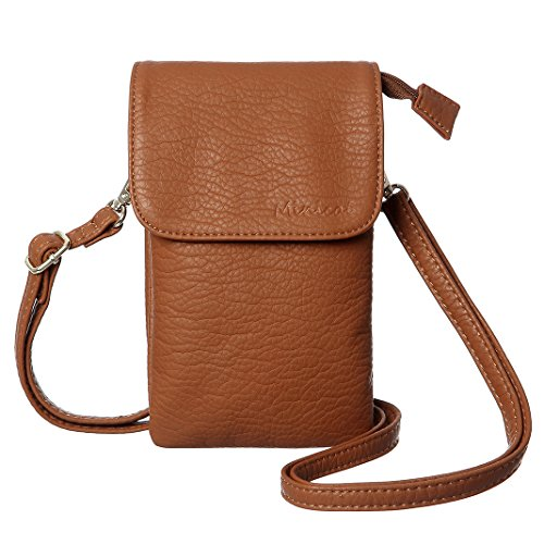 MINICAT Roomy Pockets Series Small Crossbody Cell Phone Purse Wallet Bag For Women (Brown)