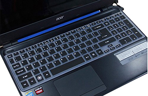 UPC 659193511307, CaseBuy® Ultra Thin Silicone Keyboard Cover Protector Skin for Acer Aspire E1-510 E1-510P E5-511 E5-511P E5-521 E5-521G E1-522 E1-530 E5-531 E1-532 E1-532P E5-551 E5-551G E1-570 E5-571 E5-571G E5-571P E5-571PG E1-572 E1-572P E1-731 E1-771 E5-721 E5-731 E5-771 E5-771G V3-551 V3-551G V3-571 V3-571G V3-572 V3-572G V3-572P V3-572PG V3-731 V3-731G V3-771 V3-771G V3-772G V5-561 V5-561PG V5-561G V5-561P V17 Nitro VN7-791G series US Layout (Semi-Black)