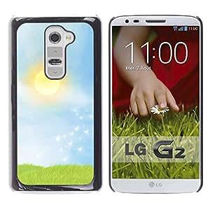 LECELL -- Funda protectora / Cubierta / Piel For LG G2 D800 D802 D802TA D803 VS980 LS980 -- Prairie --