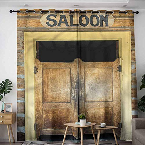 (XXANS Doorway Curtains,Western,Authentic Wood Saloon Doors,Space Decorations,W120x72L)