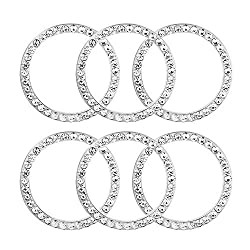6 Pcs Car Decor Crystal Rhinestone Ring