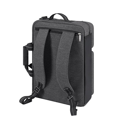 Solo Duane 15.6 Inch Laptop Hybrid Briefcase, Converts to Backpack, Grey by SOLO (Image #2)