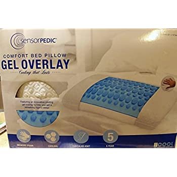 Amazon Com Sensorpedic Comfort Bed Pillow With Cooling