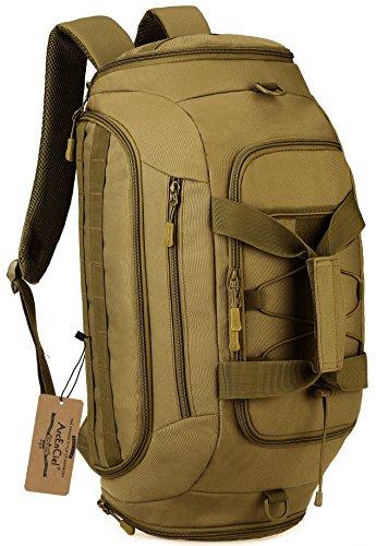 ArcEnCiel Tactical Duffle Bag Men Gym Backpack Military Rucksack Molle Shoulder Bags Shoes Storage Sports Handbag (Coyote Brown)