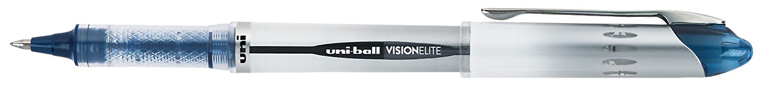 uni-ball Vision Elite BLX Infusion Rollerball Pens Micro Point 0.5mm Blue//Black 12 Count