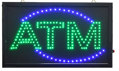 Led Sign Atm - Ch-led (TM) Large Animated Business LED ATM Sign W. Motion On/off Switch 21