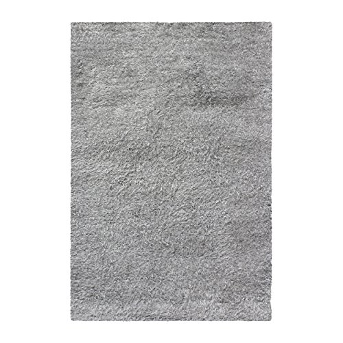 Thick, Plush, Cozy Quality Shag Textured Area Rugs, Silver - 5' x 8' ()