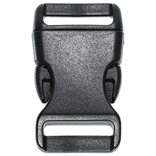PARACORD PLANET Brand Contoured Side Release Black Buckle - Multiple Size and Quantity (3/4 Inch, 10 Pack)