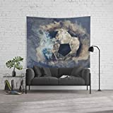 Society6 Wall Tapestry, Size Large: 88'' x 104'', Abstract Grunge Soccer by simonegatterwe