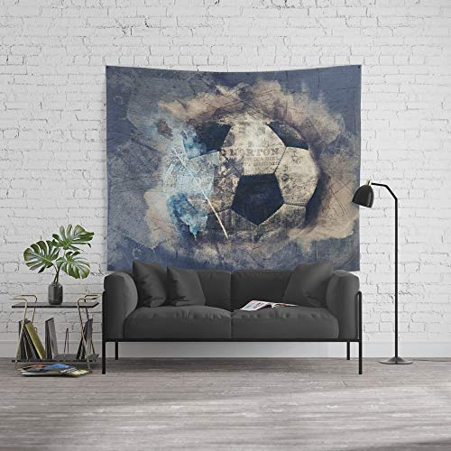 Society6 Wall Tapestry, Size Large: 88'' x 104'', Abstract Grunge Soccer by simonegatterwe by Society6