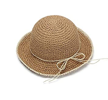 ALWLj Women Summer Hat New Crochet Straw Hats for Woman Beach Hat ... 09df91173a6