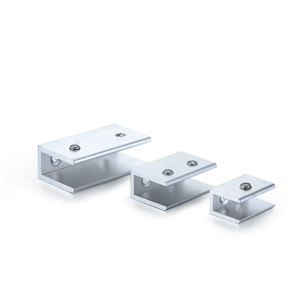 4PCS 8-10mm Thickness Glass Clip Hardware Tools size 39.5x16.5x26mm