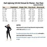Dark Lightning Premium CR Neoprene Wetsuit, Women
