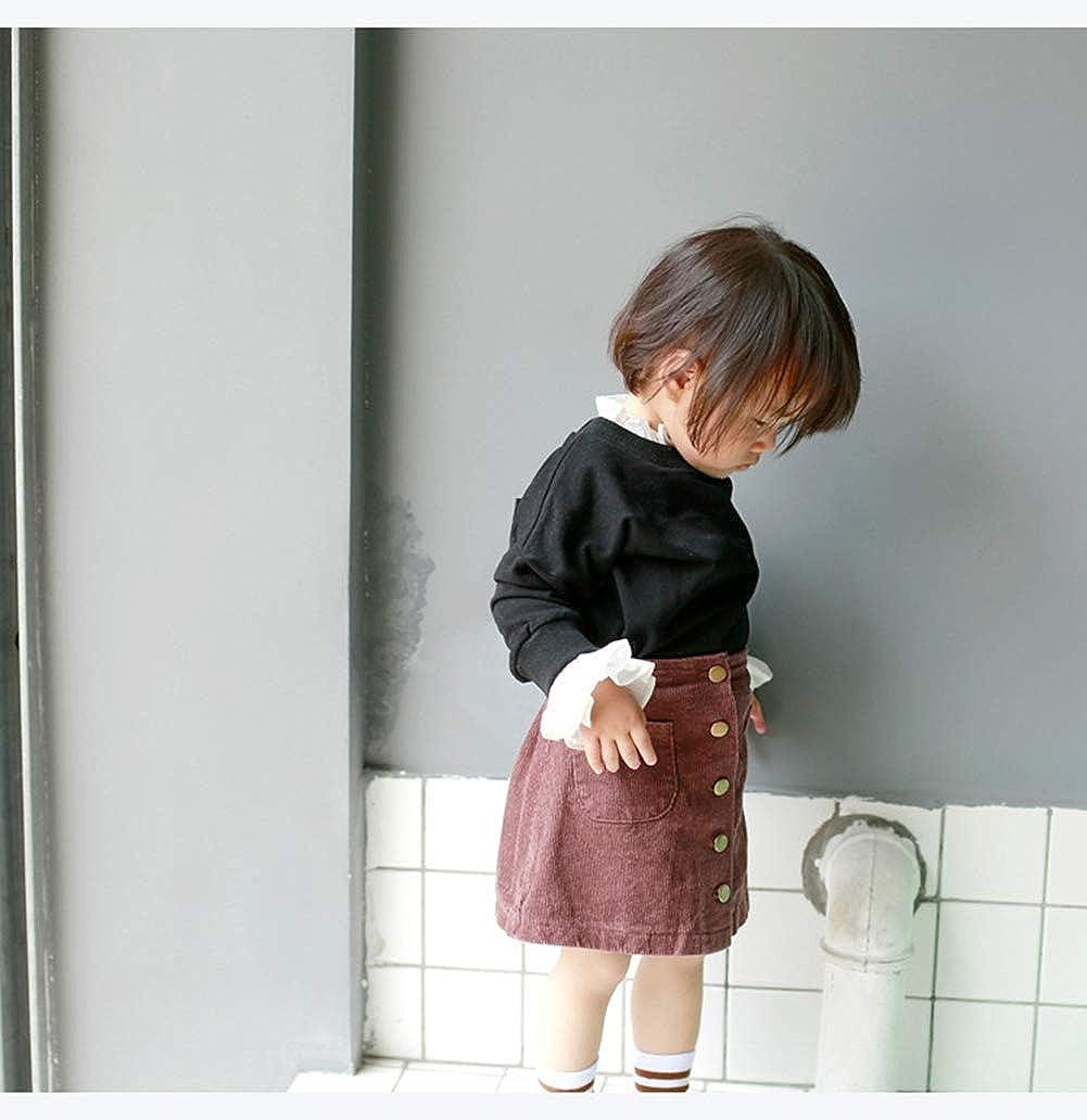 Lengima Kleinkind Baby M/ädchen R/üschen Strickgewebe Bluse Pullover Solid T-Shirt Top