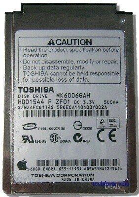 Toshiba MK6006GAH 60GB UDMA/100 4200RPM 2MB 1.8
