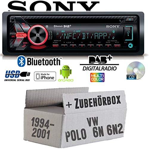 VW Polo 6N + 6N2 - Autoradio Radio Sony MEX-N6002BD - DAB+ | Bluetooth | CD | MP3/USB - Einbauzubehö r - Einbauset JUST SOUND best choice for caraudio