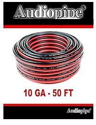 10 Gauge Power Ground Zip Hook Up Wire DJ Home Car Red Black 50 Ft Amplifier