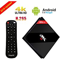 Android 7.1 TV Box Amlogic S912 Octa Core 1000M LAN 3D 4K Smart TV Player [2G DDRIII/ 16G Emmc Flash] with Dual WiFi 2.4GHz/5.8GHz BT 4.1
