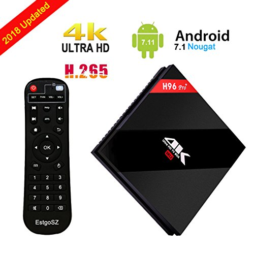 Android 7.1 TV Box Amlogic S912 Octa Core 1000M LAN 3D 4K Smart TV Player [2G DDRIII/ 16G Emmc Flash] with Dual WIFI 2.4GHz/5.8GHz BT 4.1 by EstgoSZ