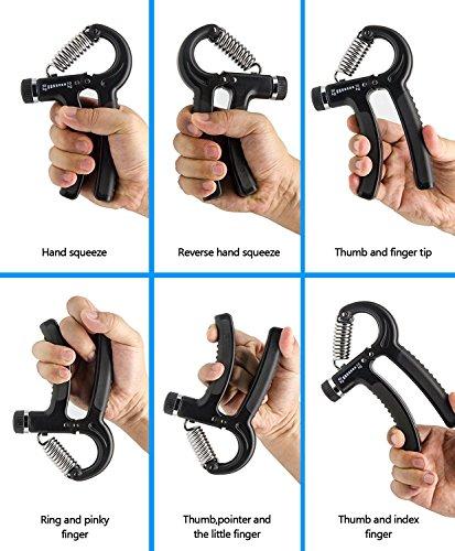 Hand Grip Strengthener Adjustable Resistance 22 110 Lbs (10 50kg), Hand Grip Exerciser, Strengthen Grip, Hand Squeezer, Forearm Grip, Hand Exercise, Gripper, Finger Strengthener