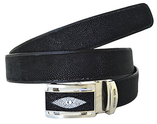 Authentic Stingray Skin Men's Double Eyes Belt 34