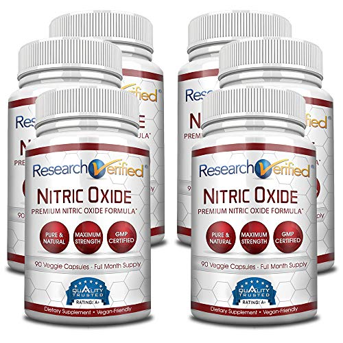 Research Verified Nitric Oxide - With L-Arginine and L-Citrulline - Premium Muscle Building Nitric Oxide Booster - 100% money-back guarantee! 6 Months Supply … -  RVNO2-6