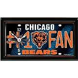 Chicago Bears NFL Football #1 Fan Team Logo License Plate made Clock