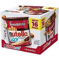 Nutella & Go 28.80 oz &16 Pack -1.8 oz Each Hazelnut Spread with Breadsticks