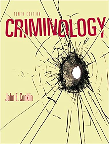 Criminology John E Conklin 9780205608966 Books