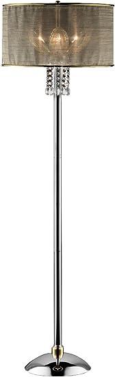 OK LIGHTING OK-5129F Leaf Crystal Floor Lamp