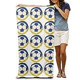 JHDHVRFRr Bath Towel Soccer Football Creative Patterned Soft Beach Towel 31''x 51'' Towel Unique Design