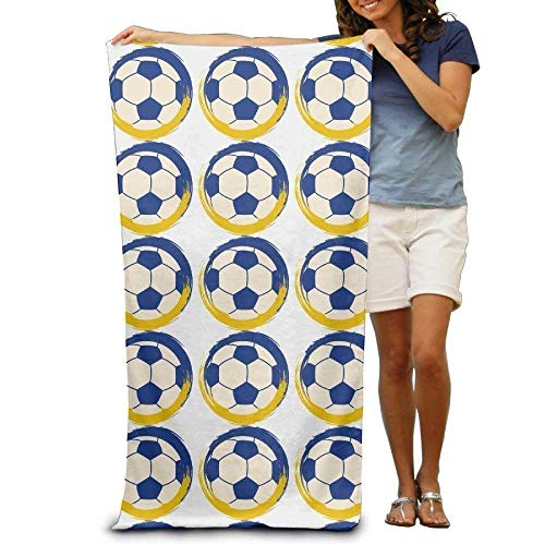 JHDHVRFRr Bath Towel Soccer Football Creative Patterned Soft Beach Towel 31''x 51'' Towel Unique Design by JHDHVRFRr