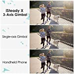 3-Axis Gimbal Stabilizer for Smartphone - 0.5lbs Lightweight Foldable Phone Gimbal for iPhone 11 Pro Max X XS, Auto Inception Dolly Zoom, Pocket Gimbal for Video Vlog Youtuber Hohem iSteady X (Black) 5