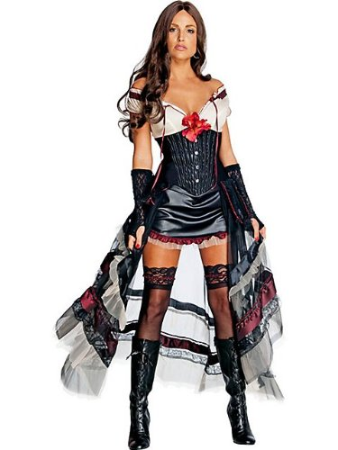 Lilah Jonah Hex Costume (Lilah Costume - Medium - Dress Size 10-12)