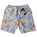 Men Swim Trunks Floral Printed Summer Beach Shorts Surfing Swimming Pooling Sleeping Boardshorts,Blue and White Porcelain Style (2XL)
