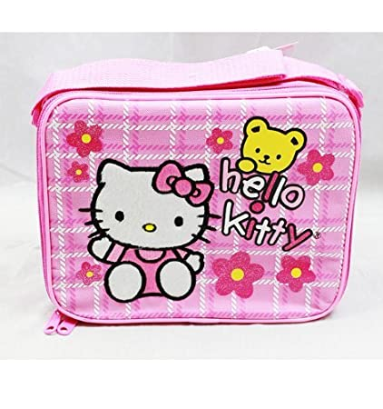 Amazon.com   Sanrio Hello Kitty Pink Insulated Lunch Bag with Flower  (JoyAve)   Reusable Lunch Bags   Everything Else 8fc48ba250246