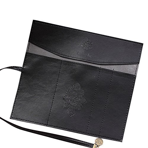Stationery Nice - Coohole-Stationery Retro Vintage Roll Leather Make Up Cosmetic Pen Pencil Case Pouch Purse Bag Box