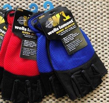 Wells Lamont 836L Mens Large Fingerless Stretch Sport Utility Glove - Quantity 2