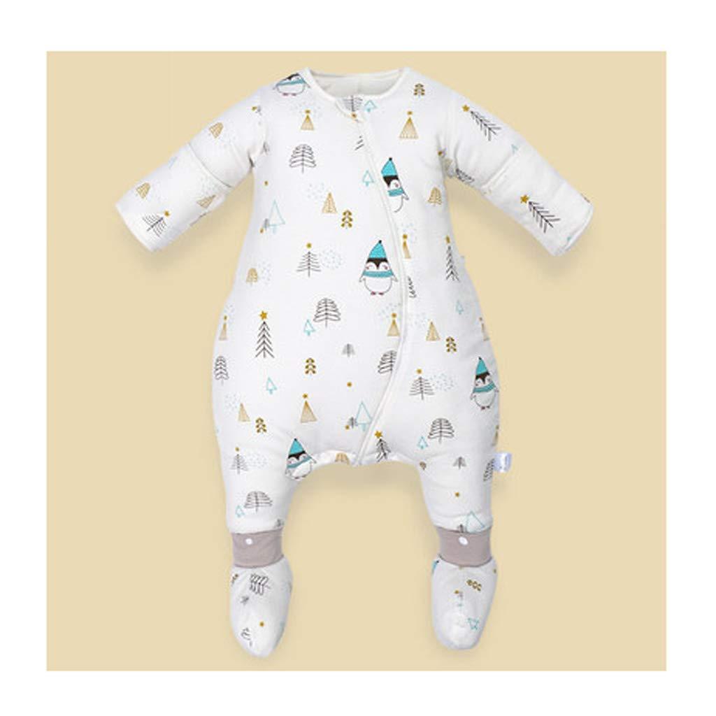 Schlafsack für Kinder AUGAUST Baumwolle Baby Schlafsack Baby Winter super dicken Anti-Kick-Schlafsack (Farbe   B, größe   80cm)