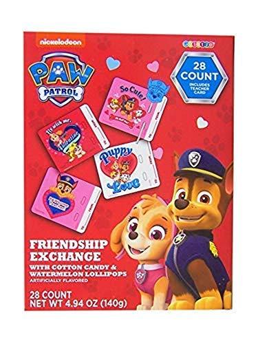 Paw Patrol Valentine Cards Friendship Exchange with Lollipops, 28 Cards
