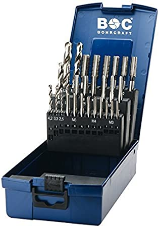 7/Pieces Bohrcraft 46111332020/Thread Repair Set in ABS Box Professional Plus 1/Unit