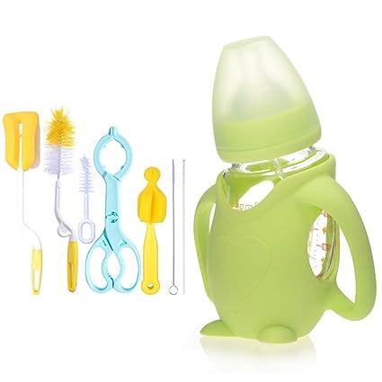 JP0SDD 8 Unids Conjunto de Alimentación de Bebé Botella de Alimentación de Dibujos Animados Botella de