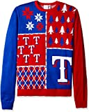 KLEW MLB Texas Rangers Busy Block Ugly Sweater