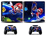 Cosines PS4 Slim Stickers Vinyl Decal Protective Console Skins Cover for Sony Playstation 4 Slim and 2 Controllers Super Mario Bros World