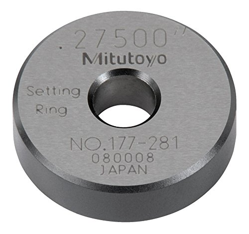 Mitutoyo 177-281 Setting Ring, 0.275' Size, 0.28' Width, 0.98' Outside Diameter, +/-0.00004' Accuracy 0.275 Size 0.28 Width 0.98 Outside Diameter +/-0.00004 Accuracy