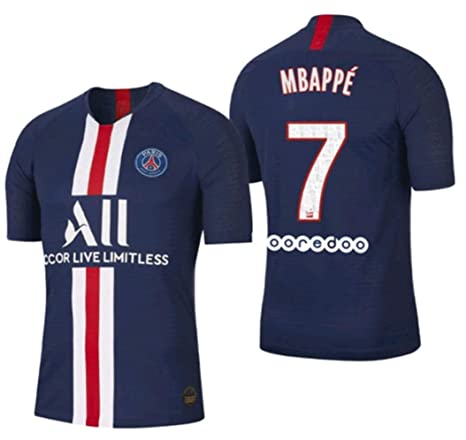 reputable site 1e7a6 84fe0 Amazon.com : STHIY 2019-2020 PSG Kylian Mbappé NO.7 Men's ...