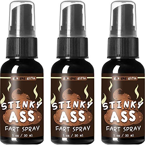 (3 Pack - Stinky Ass Fart Spray Prank -Smells Like Ass Spray, Gross - Funny - Ultra Strong - Super Stinky Prank Spray - Better Than Stink Bombs - Guaranteed Laughs - Best Fart Spray)